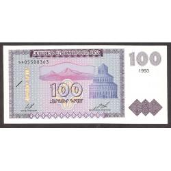 Armenia 100 Drams. 1993. SC. PIK. 36