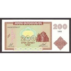 Armenia 200 Drams. 1993. SC. PIK. 37