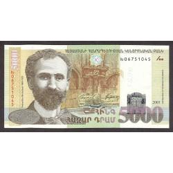 Armenia 5000 Drams. 2003. SC. PIK. 46