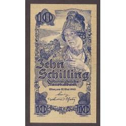 Austria-(y Estados) 10 Schilling. 1945. EBC. (Nuevo con doblez). PIK. 114