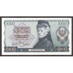 Austria-(y Estados) 1000 Schilling. 1966. EBC. (Doblez). PIK. 147 a