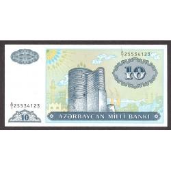 Azerbayan 10 Manat. 1993. SC. PIK. 16