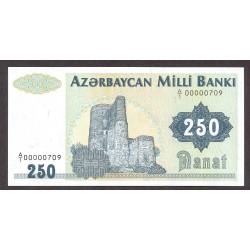 Azerbayan 250 Manat. 1992. SC. PIK. 13 a