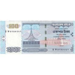 Bangladesh 100 Taka. 2006. SC. (Agujeritos de grapa propio de estos billetes). PIK. Nuevo