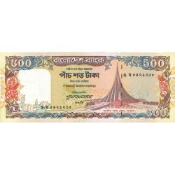 Bangladesh 500 Taka. 1998. (s/f). SC. Agujeritos de grapa. PIK. 34