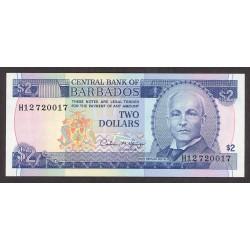 Barbados 2 Dolar. 1993. SC. PIK. 42