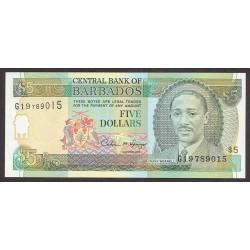 Barbados 5 Dolar. 1996. SC. PIK. 47