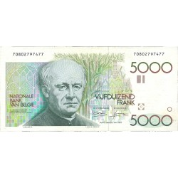 Belgica 5000 Francos. 1982. EBC+. (Guido Guezelle) . (Nuevo con lev.marqitas por presión). PIK. 145