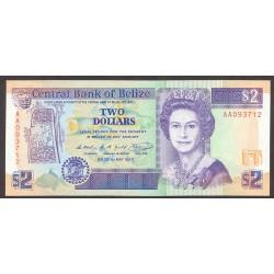 Belice 2 Dolar. 1990. SC. PIK. 52 a