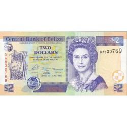 Belice 2 Dolar. 2002. 01-01. SC. ESCASO/A. PIK. 66