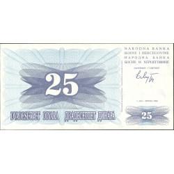 Bosnia Herzegovina 25 Dinara. 1992. SC. PIK. 11 a