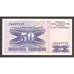 Bosnia Herzegovina 50 Dinara. 1995. SC. PIK. 47