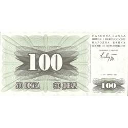 Bosnia Herzegovina 100 Dinara. 1992. SC. PIK. 13 a