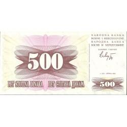 Bosnia Herzegovina 500 Dinara. 1992. SC. PIK. 14 a