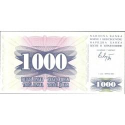 Bosnia Herzegovina 1000 Dinara. 1992. SC. PIK. 15 a