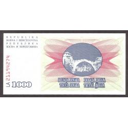 Bosnia Herzegovina 1000 Dinara. 1994. SC. PIK. 15