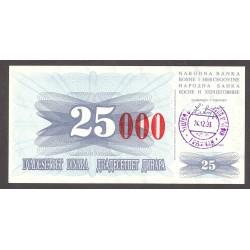 Bosnia Herzegovina 25000 Dinara. 1993. SC. PIK. 54 d