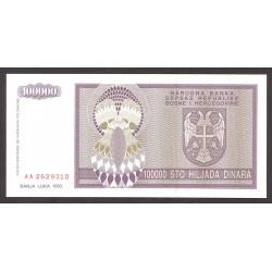 Bosnia Herzegovina 100000 Dinara. 1993. SC. PIK. 141 a