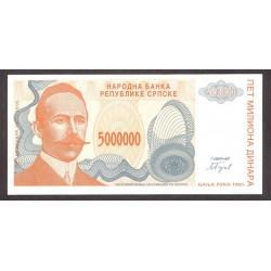 Bosnia Herzegovina 5000000 Dinara. 1993. SC. PIK. 153 a