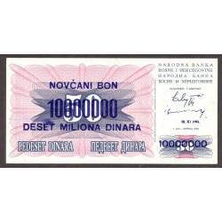Bosnia Herzegovina 10000000 Dinara. 1993. SC. PIK. 36