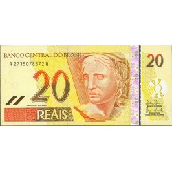 Brasil 20 Reales. 2000. (s/f). SC. PIK. 250