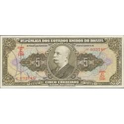 Brasil 5 Cruzeiro. 1950. (s/f). SC. (Con firma autentificación). PIK. 142