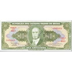 Brasil 10 Cruzeiro. 1966. (s/f). SC. (Validado para 1 Ctvo.Nuevo). PIK. 183 b