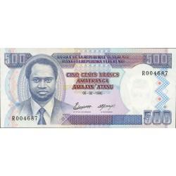 Burundi 500 Francos. 1995. 05-02. SC. PIK. Nuevo