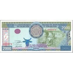 Burundi 2000 Francos. 2001. 05-06. SC. PIK. 41