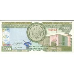 Burundi 5000 Francos. 1999. SC. PIK. 42 a