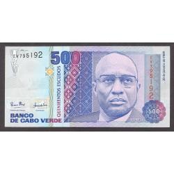Cabo Verde 500 Escudos. 1989. SC. PIK. 59 a