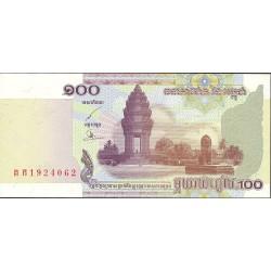 Cambodia-Kampuchea 100 Riels. 2001. SC. PIK. 53 a