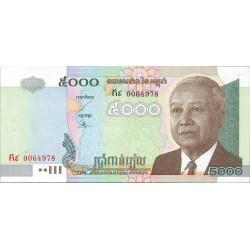 Cambodia-Kampuchea 5000 Riels. 2001. SC. PIK. 55 a