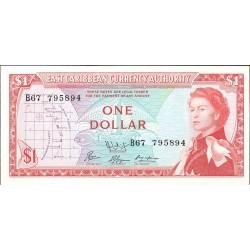 Caribe-Est.d.Este 1 Dolar. 1965. (s/f). SC.(Insig.manchita de oxid. en margen sup.dcho.). PIK. 13 f