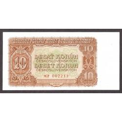 Checoslovaquia 10 Korun. 1953. SC. PIK. 83 a
