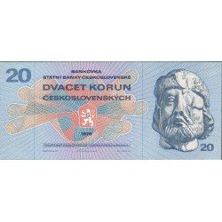 Checoslovaquia 20 Korun. 1970. SC. PIK. 92
