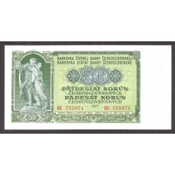 Checoslovaquia 50 Korun. 1953. SC. PIK. 85 a