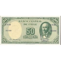 Chile 50 Pesos. 1960. SC. (5 Centesimos de Escudo). PIK. 126 b