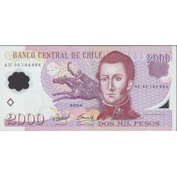 Chile 2000 Pesos. 2004. SC. PIK. Nuevo