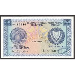 Chipre 250 Mils. 1980. SC. KM. 41 c