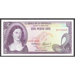 Colombia 2 Pesos. 1976. SC. PIK. 413 b
