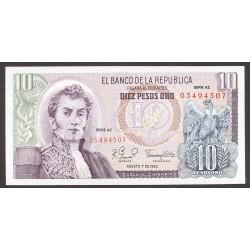 Colombia 10 Pesos. 1960. SC. PIK. 407 g