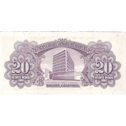 Colombia 20 Pesos. 1953. SC. PIK. 401 a