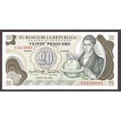 Colombia 20 Pesos. 1983. SC. PIK. 409 d