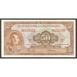 Colombia 50 Pesos. 1967. SC. PIK. 402 b