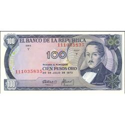 Colombia 100 Pesos. 1973. 20-07. SC. PIK. 415