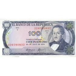 Colombia 100 Pesos. 1974. 20-07. SC. PIK. 415