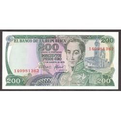 Colombia 200 Pesos. 1975. SC. PIK. 417 b
