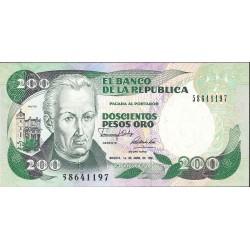 Colombia 200 Pesos. 1992. 10-08. SC. PIK. 429 d