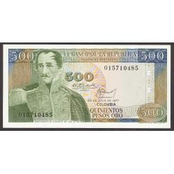Colombia 500 Pesos. 1977. SC. PIK. 420 a